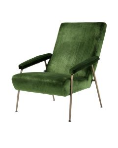 Gio Catania Green Velvet Armchair