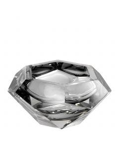 Las Hayas Grey Crystal Glass Bowl