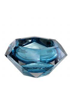 Las Hayas Blue Crystal Glass Bowl