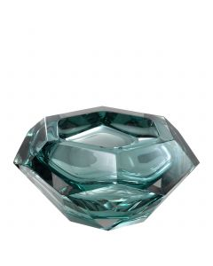 Las Hayas Turquoise Crystal Glass Bowl