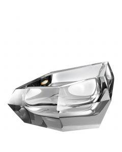 Alma Grey Crystal Glass Bowl