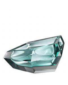 Alma Turquoise Crystal Glass Bowl