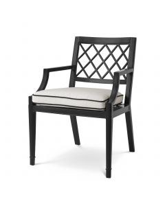 Paladium Black Outdoor Dining Armchair