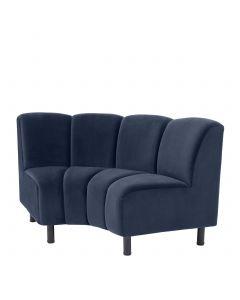 Hillman Savona Midnight Blue Modular Sofa - Curved