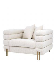 York Boucle Cream Armchair