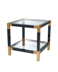 Royalton Black & Brass Side Table