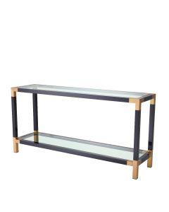 Royalton Black & Brass Console Table