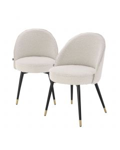 Cooper Boucle Cream Dining Chair - Set of 2