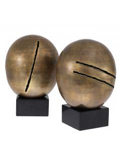 Artistic Vintage Brass Object - Set of 2 back