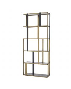 Clio Brushed Brass & Black Cabinet