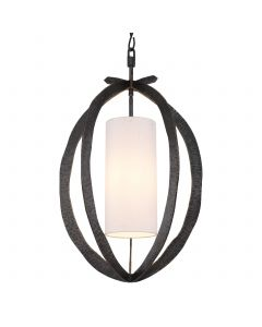 Luciano Hammered Bronze Highlight Pendant