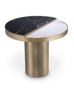 Excelsior Brushed Brass & Ceramic Side Table