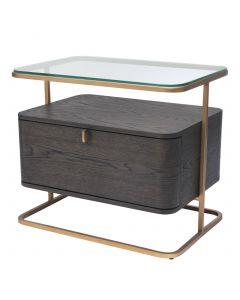 Augusto Mocha Crown Oak Side Table