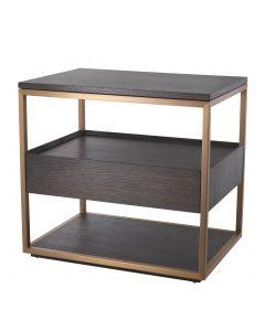 Parker Mocha Straight Oak Side Table
