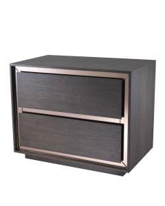 Cabas Mocha Straight Oak Veneer Bedside Table