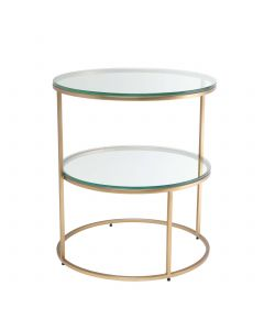 Circles Brushed Brass Side Table