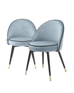 Cooper Savona Blue Velvet Dining Chair - Set of 2