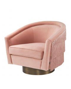 Le Vante Savona Nude Velvet Swivel Chair