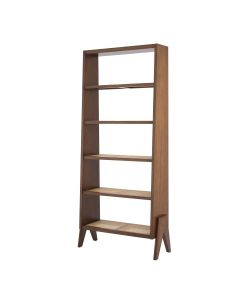 Raynard Classic Brown Cabinet with Rattan Cane Webbing Shelves