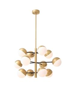 Cona Small Antique Brass Chandelier