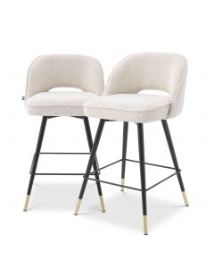 Cliff Boucle Cream Counter Stool - Set of 2