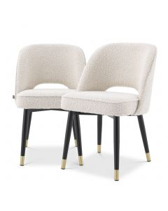 Cliff Boucle Cream Dining Chair - Set of 2