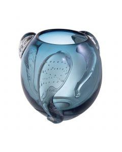 Sianluca Large Blue Glass Vase