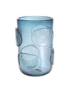 Valerio Large Blue Glass Vase