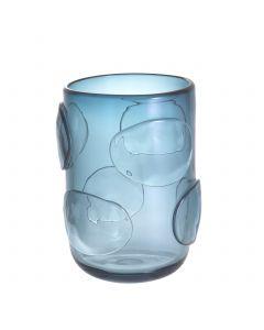 Valerio Small Blue Glass Vase