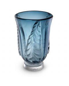 Sergio Small Blue Glass Vase