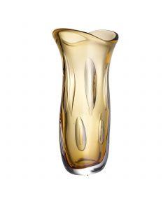 Matteo Large Orange Glass Vase