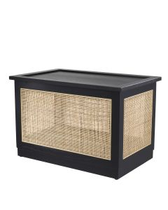Philbert Classic Black Trunk with Rattan Cane Webbing