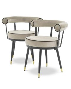Vico Savona Greige Dining Chairs - Set of 2