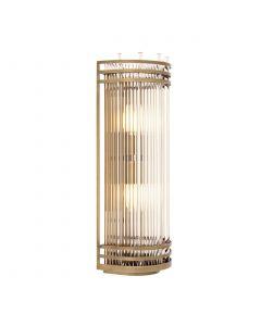 Gulf Large Antique Brass Wall Lamp