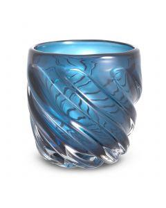 Angelito Small Blue Glass Vase