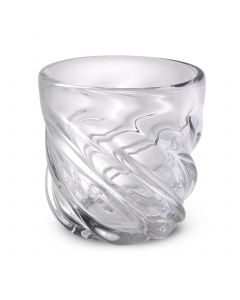 Angelito Small Clear Glass Vase