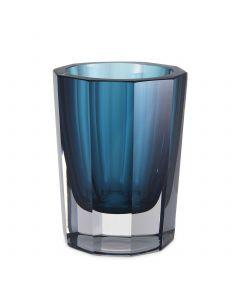 Chavez Small Blue Glass Vase