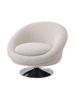 Nemo Boucle Cream Swivel Chair
