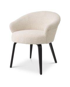 Moretti Boucle Cream Dining Chair