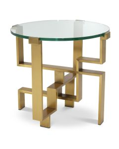 Chuck Brushed Brass Side Table