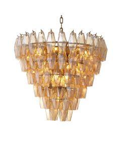 Benini Small Gold Glass Chandelier