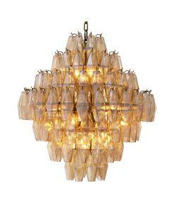 Benini Large Gold Glass Chandelier
