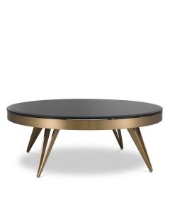 Rocco Brushed Brass Coffee Table