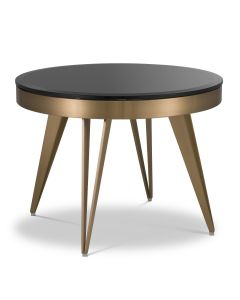 Rocco Brushed Brass Side Table
