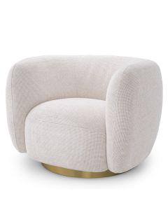 Roxy Lyssa Off White Swivel Armchair