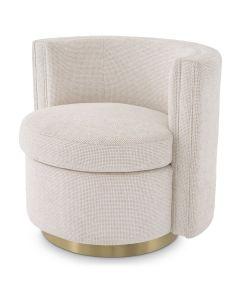 Amanda Lyssa Off White Swivel Armchair
