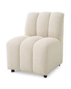 Kelly Boucle Cream Dining Chair