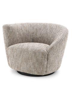 Colin Mademoiselle Beige Swivel Chair - Left