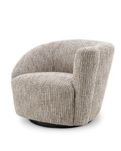 Colin Mademoiselle Beige Swivel Chair - Right