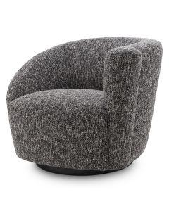 Colin Cambon Black Swivel Chair - Right